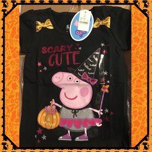 "🎃New🎃Peppa Pig ""Scary Cute""Halloween T-Shirt🎃"